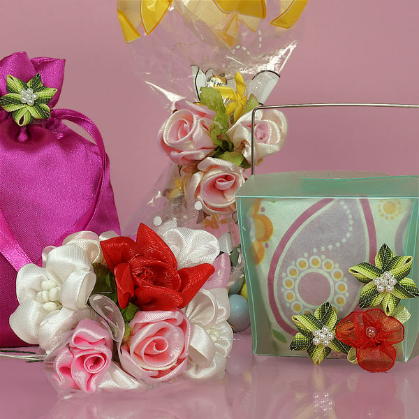 Assorted Ribbon Flowers