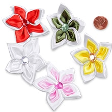 Paper flowers fabric flowers miniature flowers tiny satin roses jeweled star flowers mightylinksfo