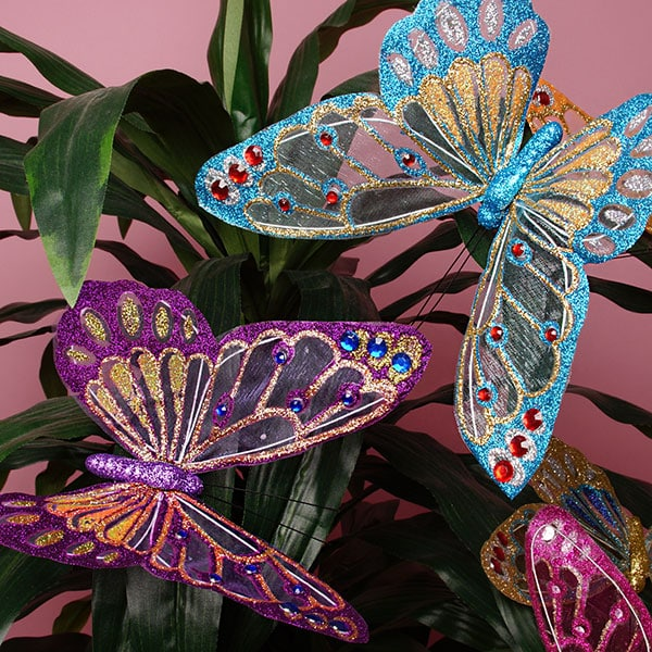 Large Clear Wing Butterfly Decor