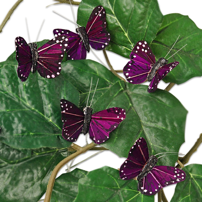 "1-3/4"" Purple Feather Monarch Butterfly"