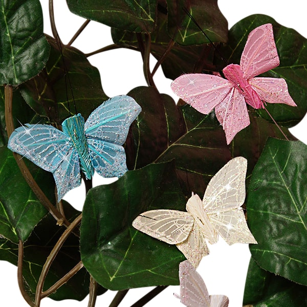 "2"" Pastel Butterfly Decor"