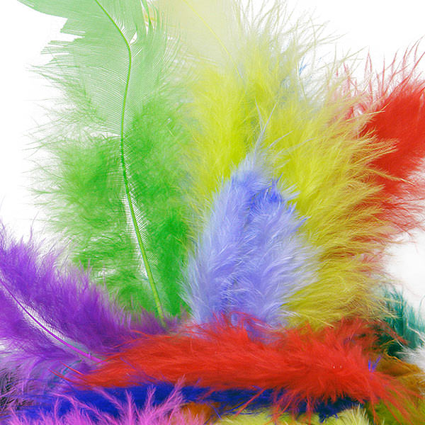 Colored Marabou Turkey Feathers