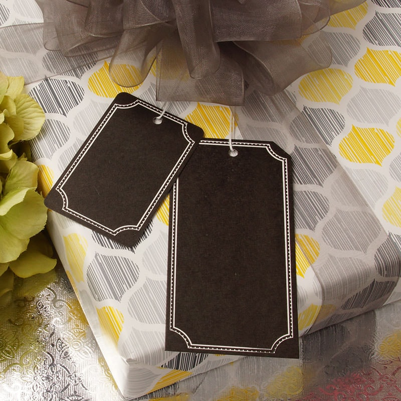 Black/White Chalkboard Strung Gift Tags