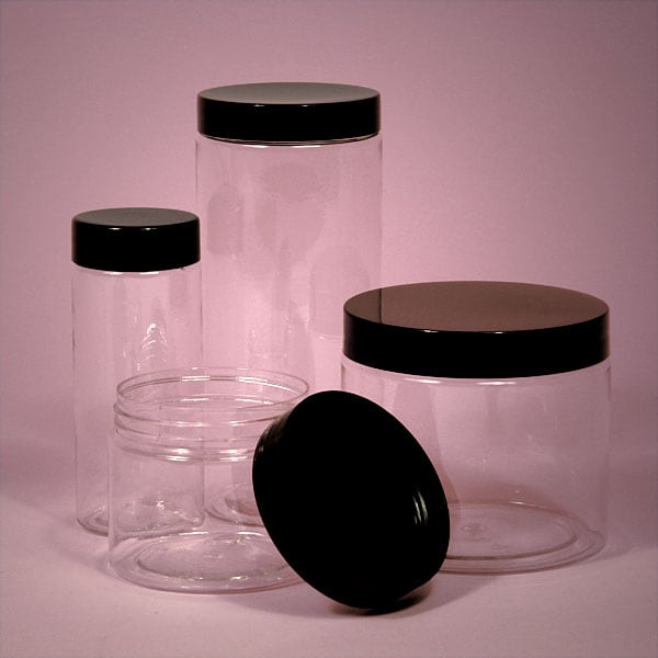 clear black screw top jars. Black Bedroom Furniture Sets. Home Design Ideas