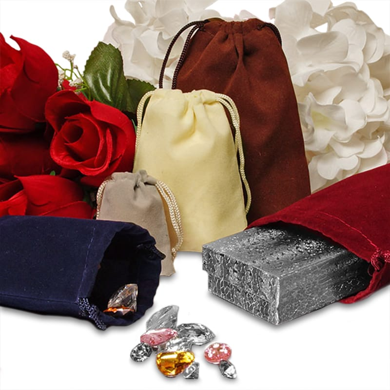 Small Velour Jewelry Bags