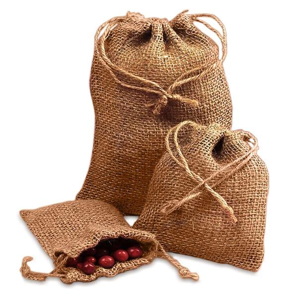Rough Natural Burlap Bags