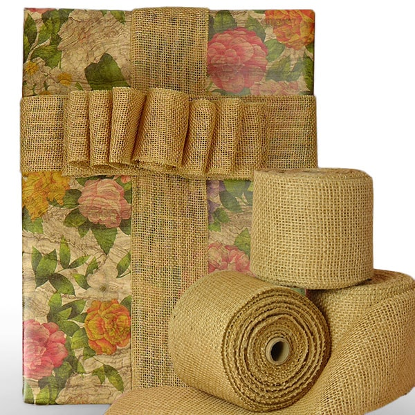 Extra Wide Jute Fabric Ribbon