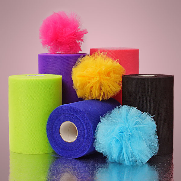 Economy Colored Polyester Tulle In Rolls