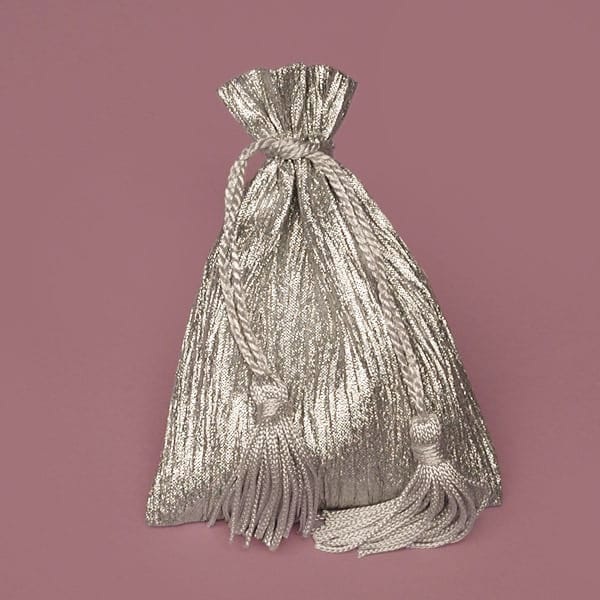 Sparkling Crinkled Metallic Fabric Bags
