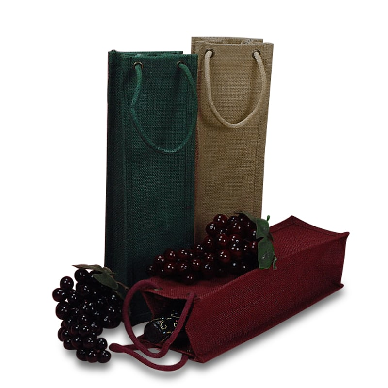 Jute Rope Handle Wine Bags