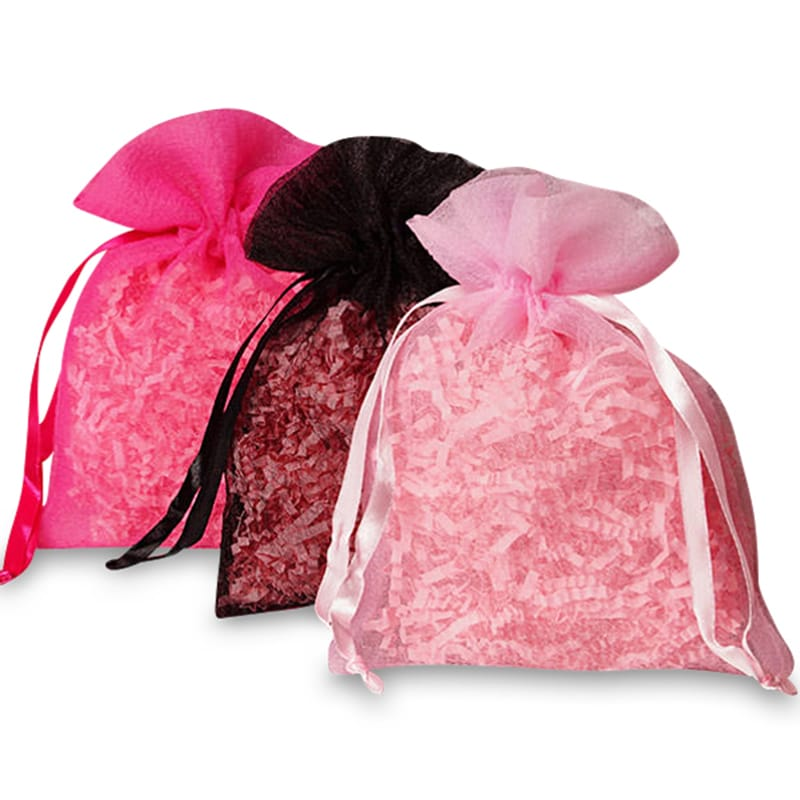 Heavy Textured Organza Bags