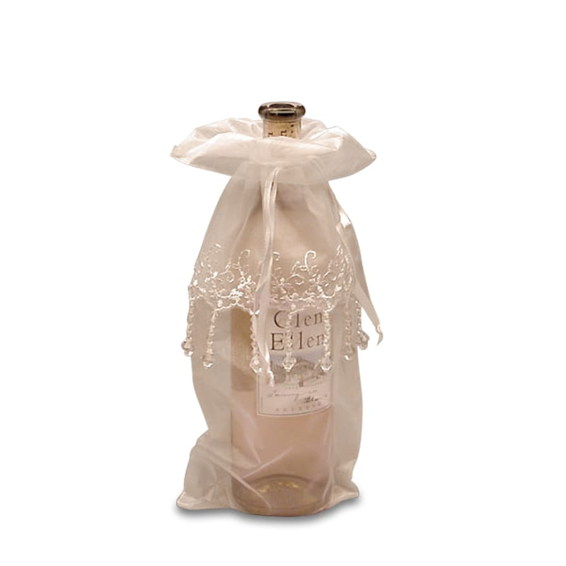 Jeweled Organza Wine Bags
