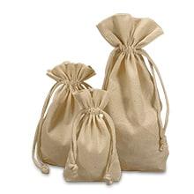 Plain Cotton Muslin Pouch Flat Bottom Bags
