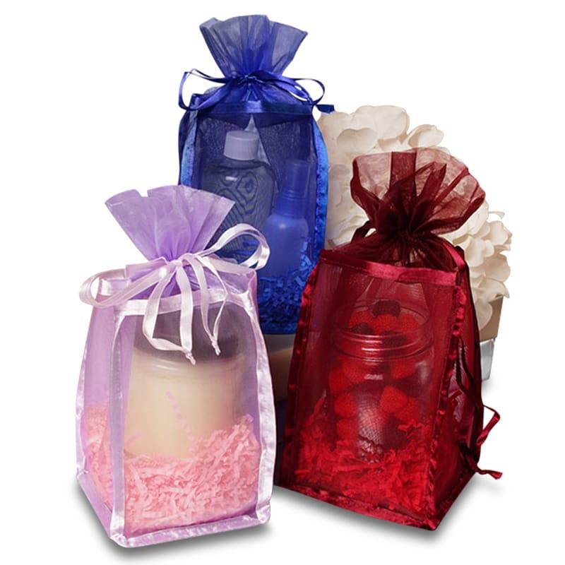 Standard Organza Bags, Flat Bottom Organza Bags, Mesh Rectangular Shaped Rigid Bag