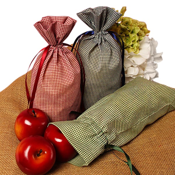 Gingham Cotton Bags