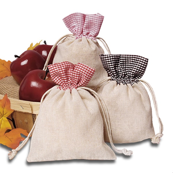 Gingham Top Cotton Bags