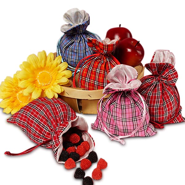 Sally Plaid Fabric Bags