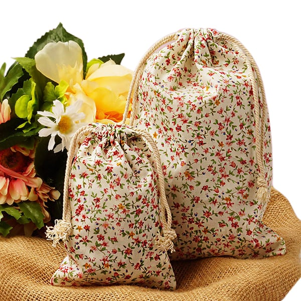 Mini Multi Flower Cotton Bags