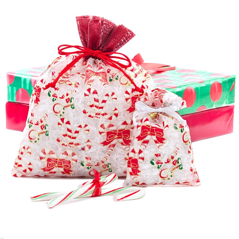 Candy Canes Christmas Bag