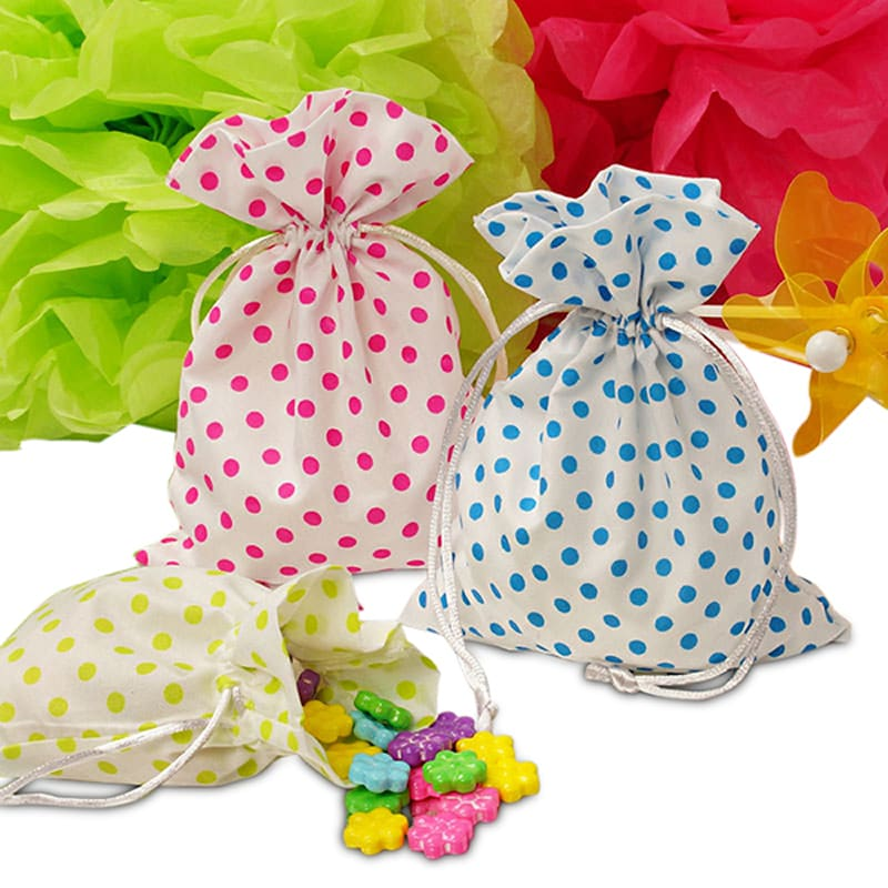 Polka Dot Cotton Feel Bags