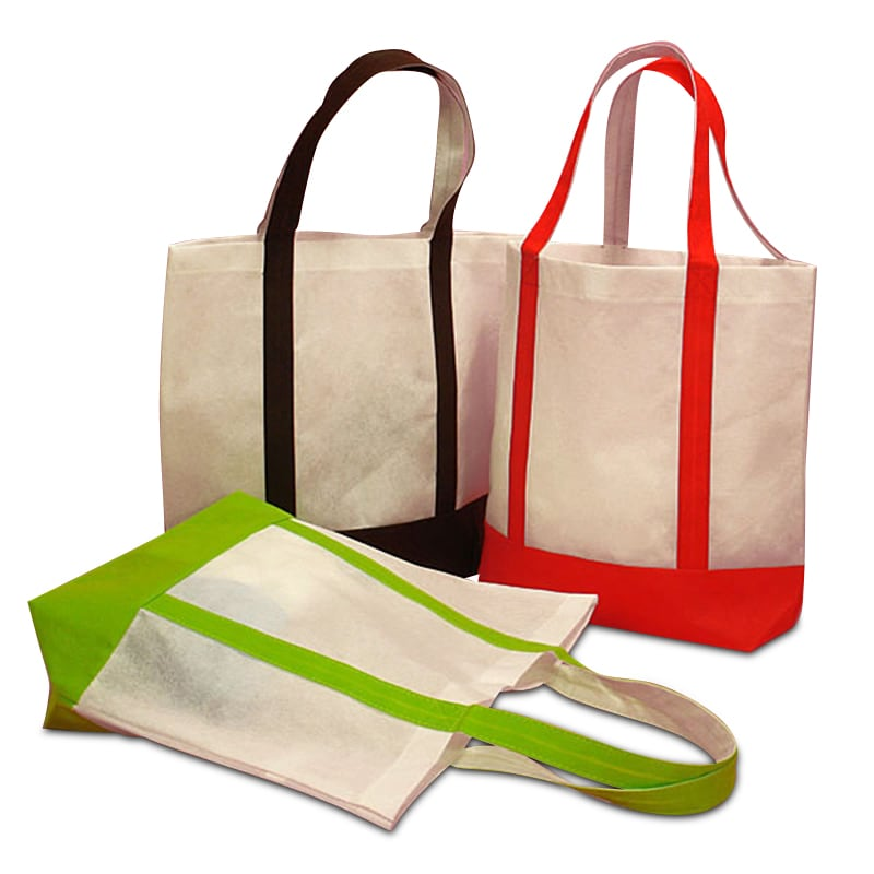 Colored Reusable Fabric Shopping Bags | Paper Mart