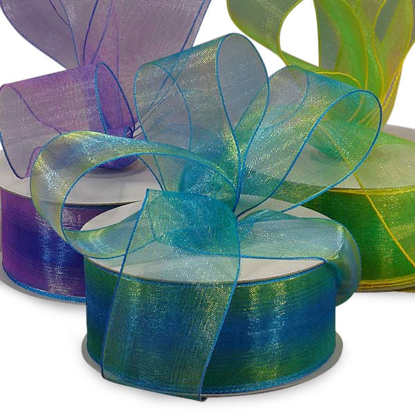 Candy Colored Iridescent Organza Ribbon