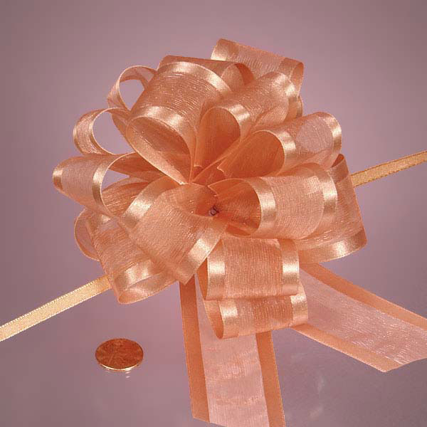 "4"" & 6"" Arabesque Pom Pom Fabric Pull Bows"