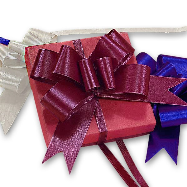 Satin Fabric Butterfly Pull Bows