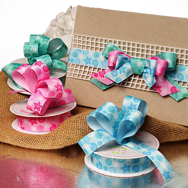 Seashell Grosgrain Ribbon