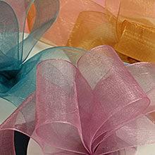 Polyester Sheer Organza Ribbons – Black