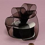 Sheer Organza Wired Ribbons - Black
