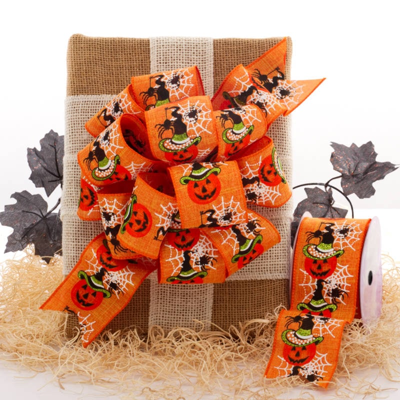 Halloween Fabric Wired Ribbon