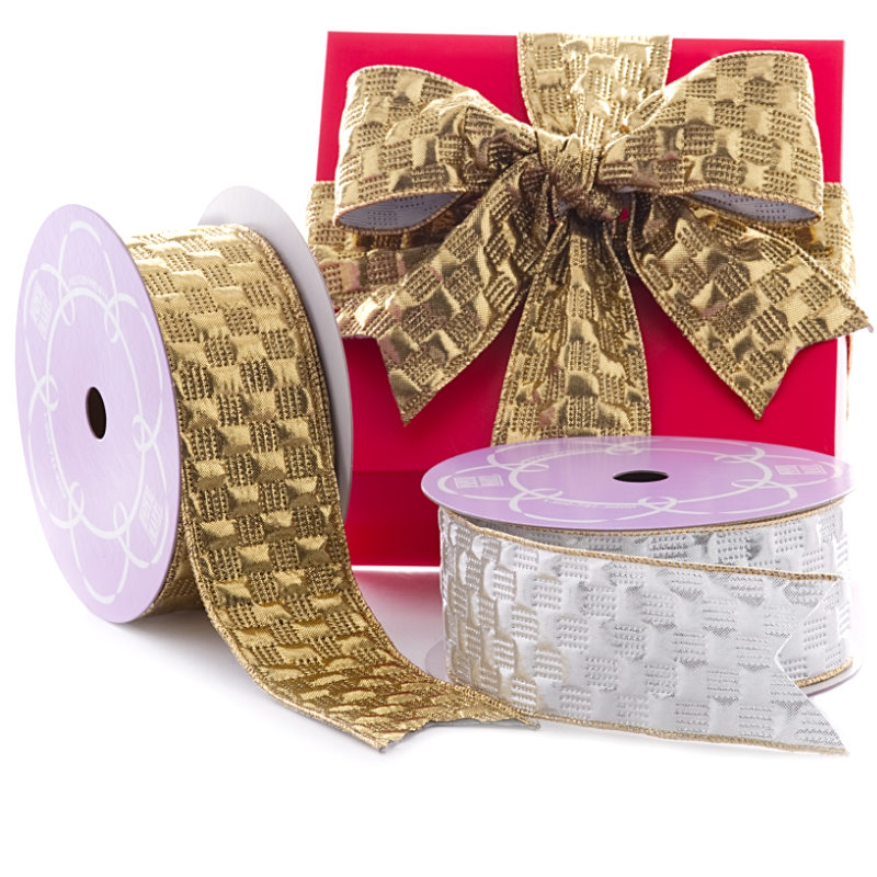 Quilted Shaped Metallic Ribbon