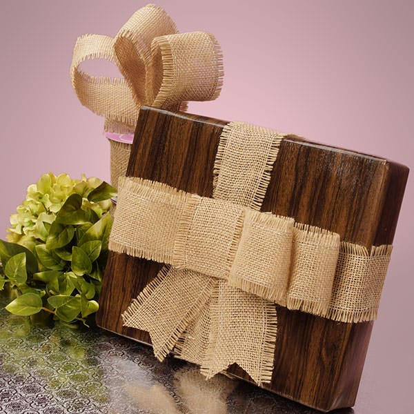 Natural Fine Burlap Ribbon