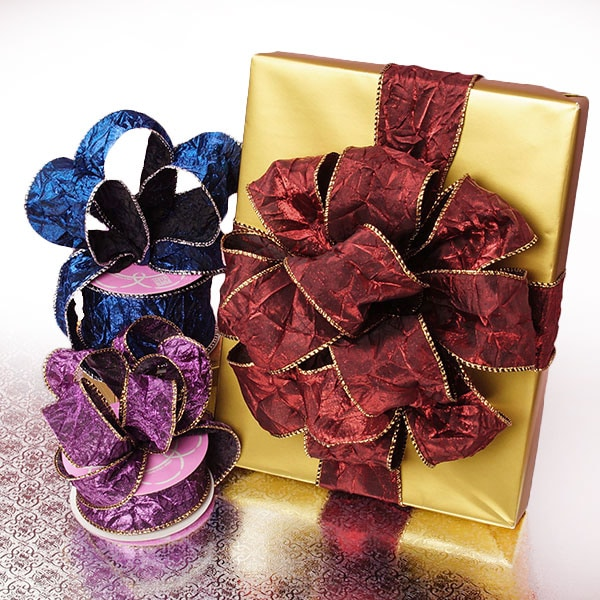 Crushed Satin Wired Ribbon