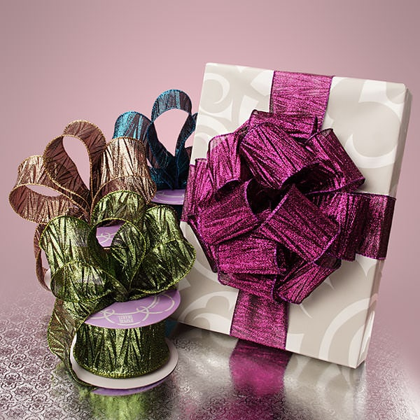 Wrinkle Metallic Sheer Ribbon