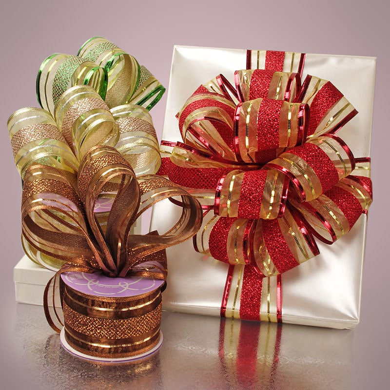 Wendy Stripe Holiday Ribbon