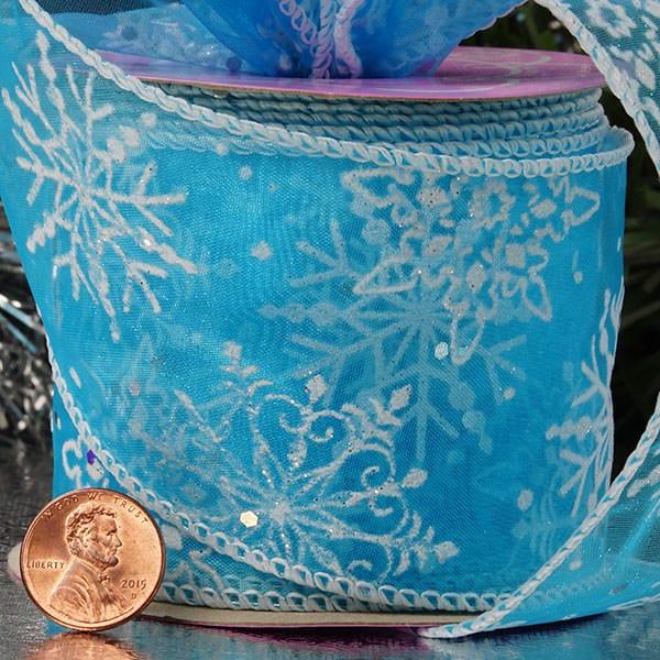 Frozen Snowflake Sheer Ribbon
