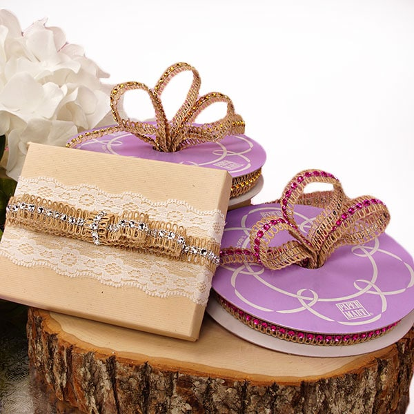 Jewel Jute Ribbon