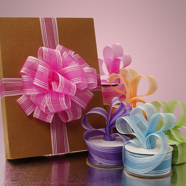 Multi Lines Solid/Sheer Ribbon