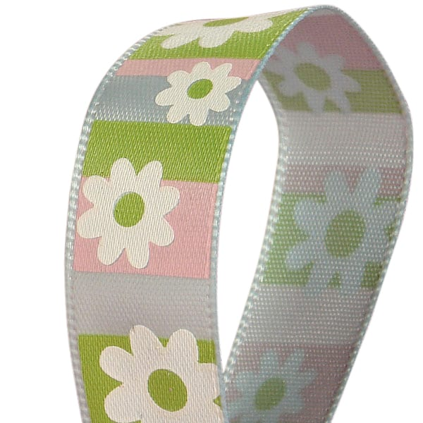 Pastel Flowers On Satin Ribbons
