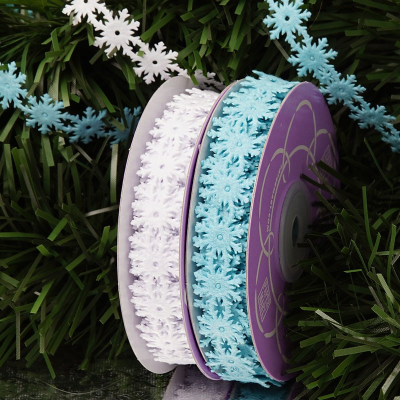 Die Cut Snowflake Ribbon