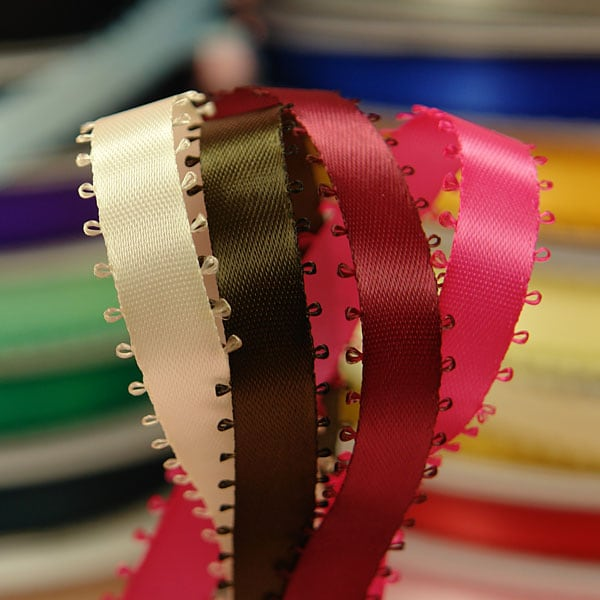 Picot Edge Satin Ribbon