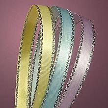 Silver Edge Satin Ribbon – Black