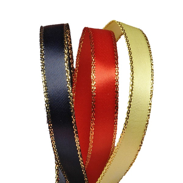 Gold Edge Satin Ribbon