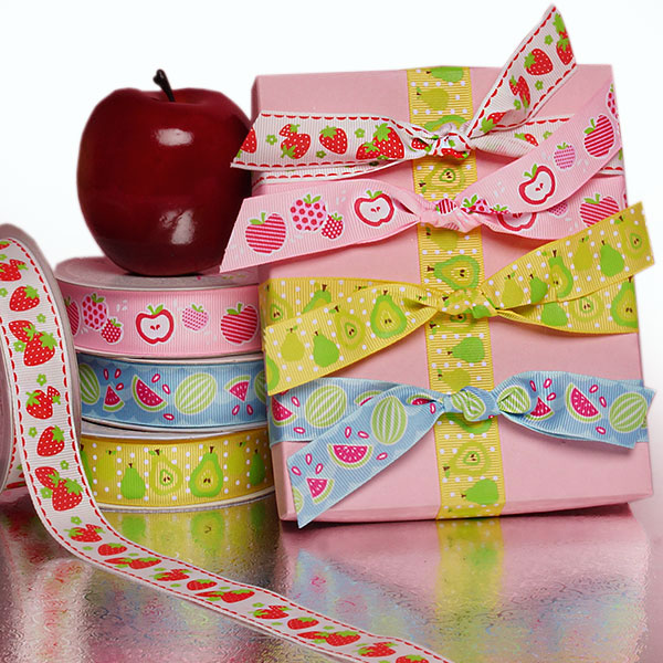 Fruit Printed Grosgrain Ribbon