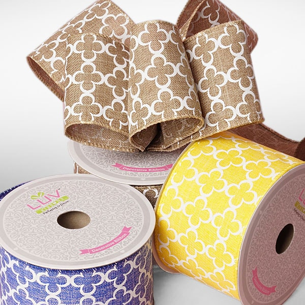 Canvas Quatrefoil Ribbon