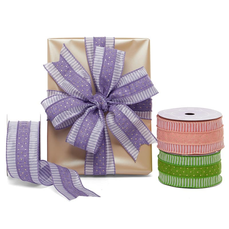 Romano Dots & Lines Wired Ribbon
