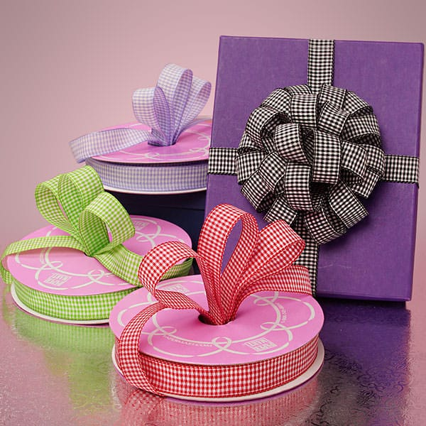 Wendy Gingham Wired Ribbon