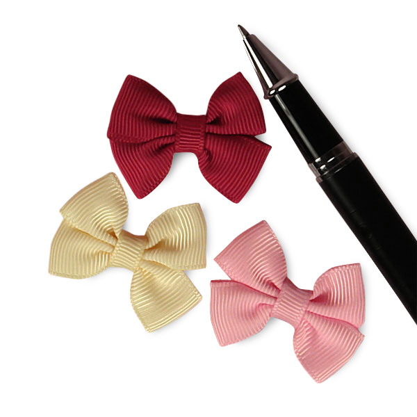 Tiny Pre-Tied Grosgrain Double Bows